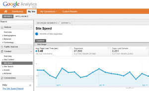 Track Site Speed in Volusion with Google Analytics