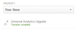 Google Analytics Upgrade to Universal Analytics - Transfer Complete