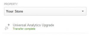 Google Analytics Upgrade to Universal Analytics - Transfer Complete
