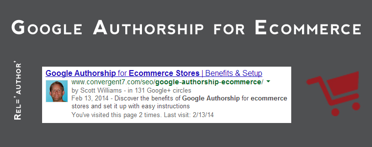 Google Authorship for Ecommerce Banner